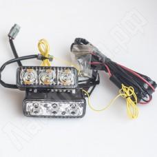 Комплект корпусных ДХО 3 led с поворотником
