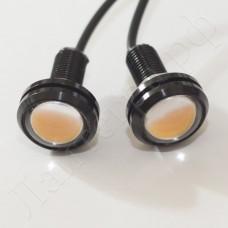 """Точечные диоды """"орлиный глаз"""" 22мм оранжевого цвета"""