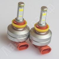 Комплект ламп головного света H8 / H11 / H16 8N 5400Лм с ДХО и canbus