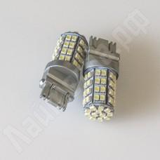 Светодиодная автолампа 3157 жёлтый+белый 60 3528SMD 12В