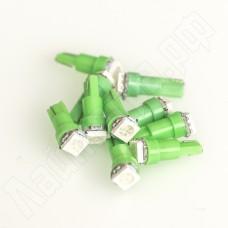 Светодиодная автолампа T5 W2.1W 5050SMD зелёная