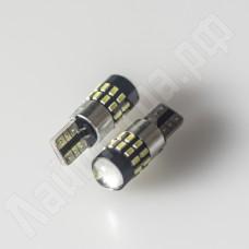 Светодиодная автолампа canbus T10 W5W 30*SMD3014 12В с линзой